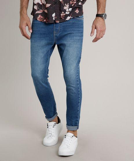 Calca-Jeans-Masculina-Jogger-com-Bolsos-Azul-Medio-9663923-Azul_Medio_1