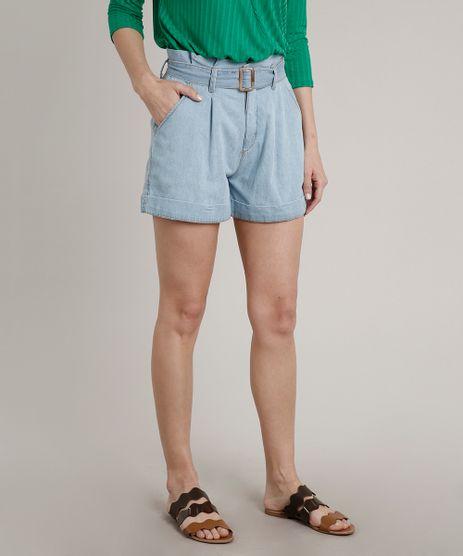 Short-Jeans-Feminino-Clochard-com-Barra-Dobrada-e-Cinto-Azul-Claro-9664658-Azul_Claro_1