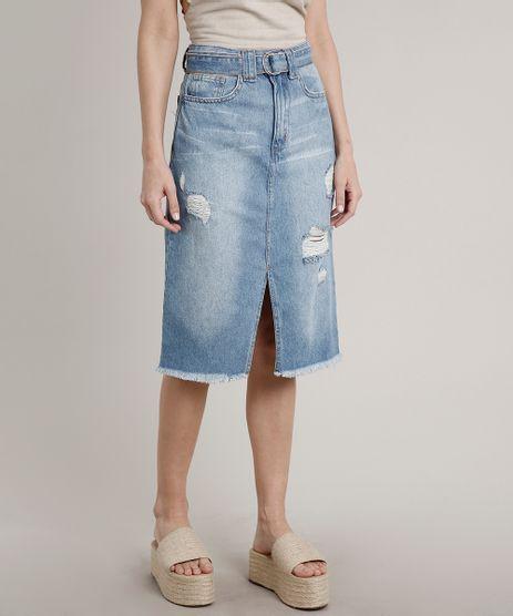 Saia-Jeans-Feminina-Midi-Destroyed-com-Cinto-Azul-Claro-9654921-Azul_Claro_1