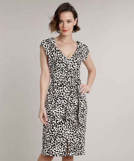 Vestido-Feminino-Curto-Estampado-Animal-Print-Onca-com-Faixa-para-Amarrar-Manga-Curta-Off-White-9633493-Off_White_1