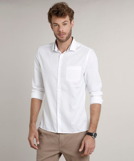 Camisa-Masculina-Slim-Texturizada-com-Bolso-Manga-Longa-Off-White-9508841-Off_White_1