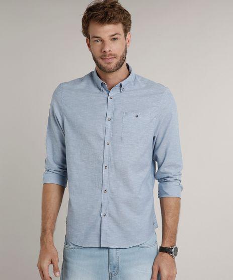 Camisa-Masculina-Comfort-com-Bolso-Manga-Longa-Azul-Claro-9523406-Azul_Claro_1