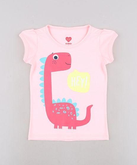 Blusa-Infantil-Dinossauro-com-Glitter-Manga-Curta-Rosa-Claro-9679491-Rosa_Claro_1