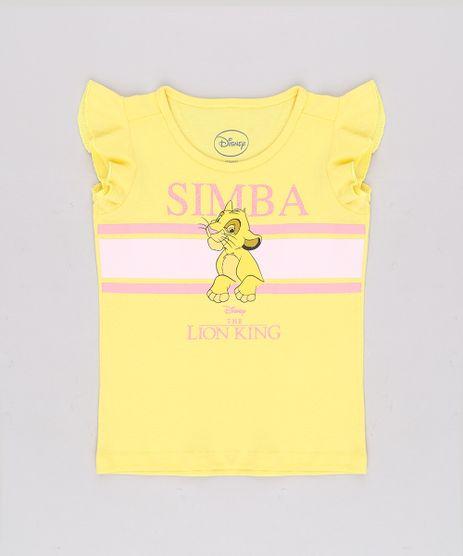 Blusa-Infantil-Simba-O-Rei-Leao-com-Babado-Manga-Curta-Amarela-9704874-Amarelo_1