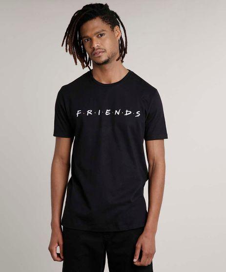 Camiseta-Masculina-Friends-Manga-Curta-Gola-Careca-Preta-9627522-Preto_1