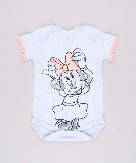 Body-Infantil-Minnie-com-Pompom-Manga-Curta--Cinza-Mescla-Claro-9703056-Cinza_Mescla_Claro_1