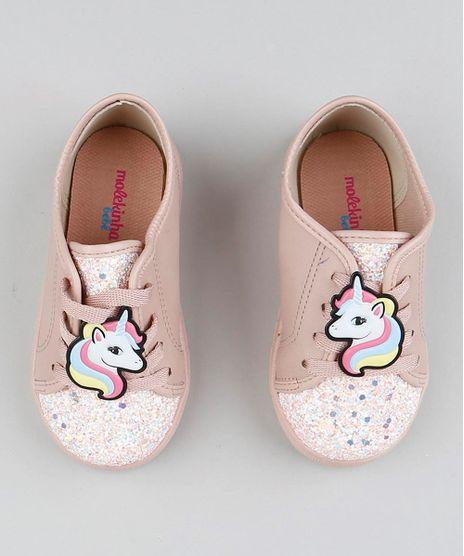 Tenis-Infantil-Molekinha-Unicornio-com-Glitter-Rose-9442861-Rose_1
