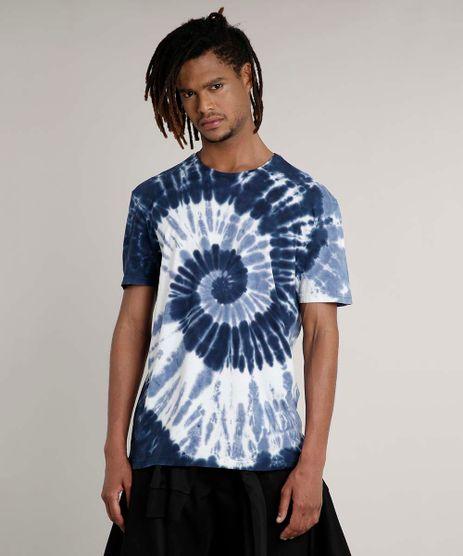 Camiseta-Masculina-Estampada-Tie-Dye-Espiral-Manga-Curta-Gola-Careca-Azul-Escuro-9702768-Azul_Escuro_1