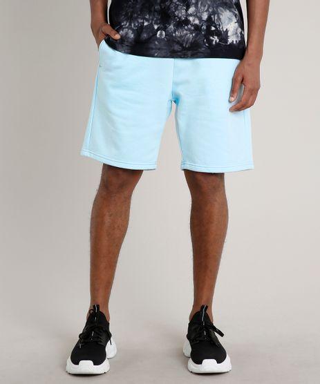 Bermuda-Masculina-Relaxed-em-Moletom--Azul-Claro-9676168-Azul_Claro_1