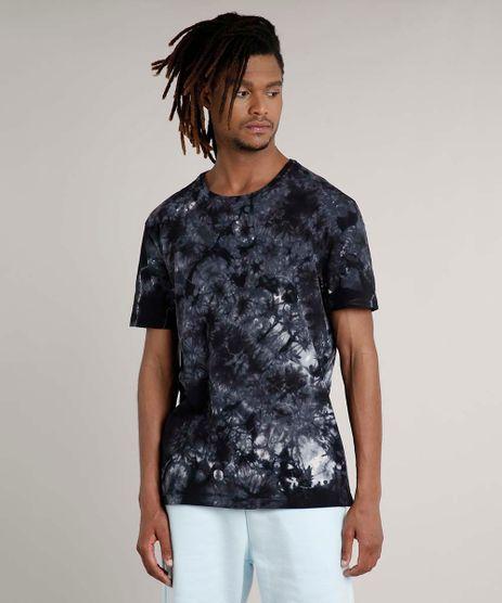 Camiseta-Masculina-Estampada-Tie-Dye-Manga-Curta-Gola-Careca-Preta-9702766-Preto_1