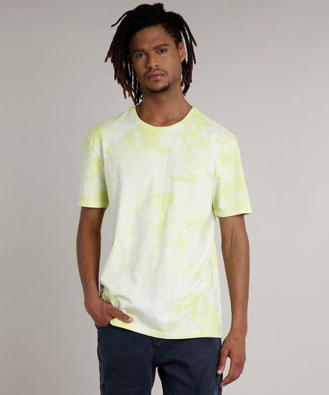 Camiseta-Masculina-Estampada-Tie-Dye-Manga-Curta-Gola-Careca-Verde-Claro-9702767-Verde_Claro_1