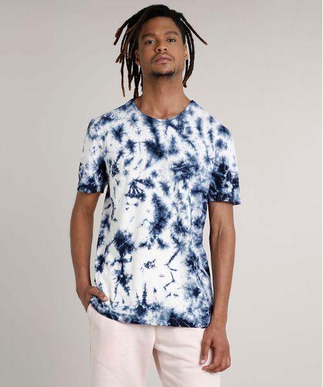 Camiseta-Masculina-Estampada-Tie-Dye-Manga-Curta-Gola-Careca-Azul-Escuro-9702765-Azul_Escuro_1