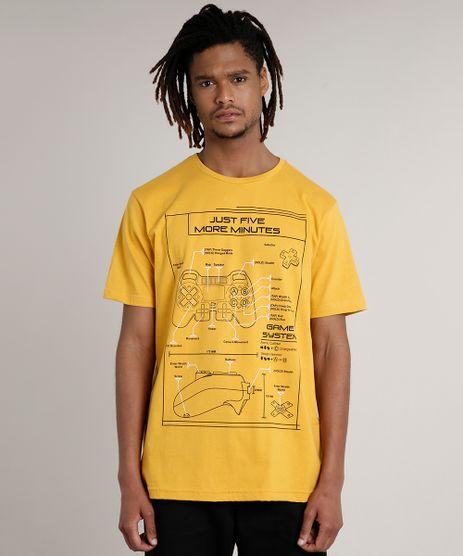 Camiseta-Masculina-Game-Manga-Curta-Gola-Careca-Mostarda-9631017-Mostarda_1