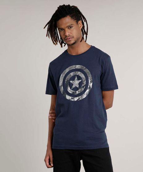 Camiseta-Masculina-Capitao-America-Manga-Curta-Gola-Careca-Azul-Escuro-9728019-Azul_Escuro_1