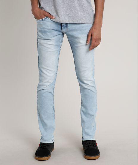 Calca-Jeans-Masculina-Slim-com-Puidos-Azul-Claro-9681356-Azul_Claro_1