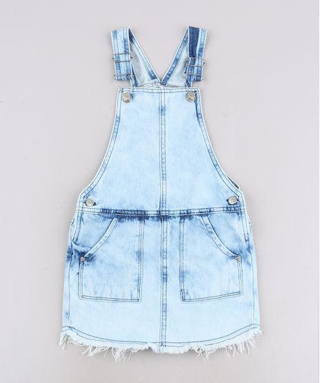 Jardineira-Jeans-Infantil-com-Bolsos-Barra-Desfiada-Azul-Claro-9708500-Azul_Claro_1