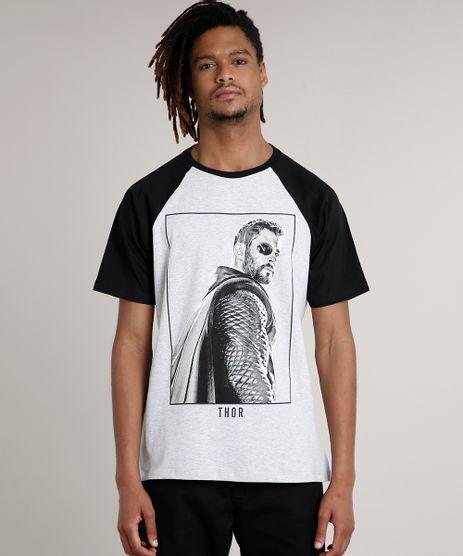 Camiseta-Masculina-Thor-Raglan-Manga-Curta-Gola-Careca-Cinza-Mescla-Claro-9687485-Cinza_Mescla_Claro_1