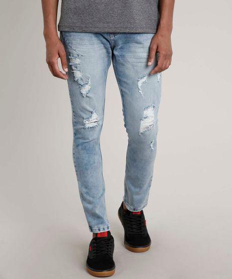 Calca-Jeans-Masculina-Carrot-Destroyed-com-Mosquetao-Azul-Medio-9663927-Azul_Medio_1