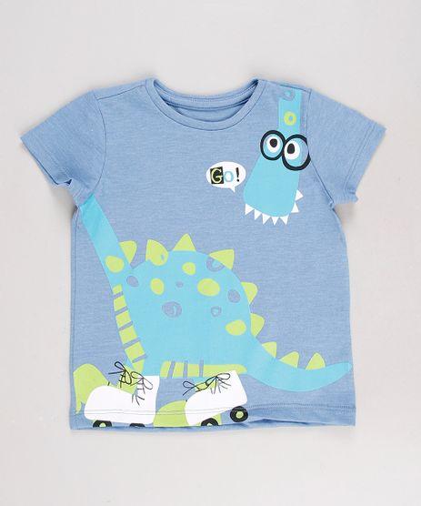 Camiseta-Infantil-Dinossauro-Manga-Curta-Azul-8612515-Azul_1