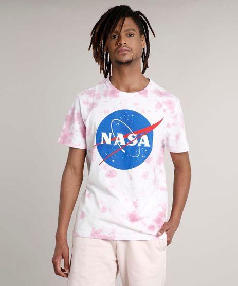 Camiseta-Masculina-Lunar-Estampada-Tie-Dye-Manga-Curta-Gola-Careca-Rosa-9722855-Rosa_1
