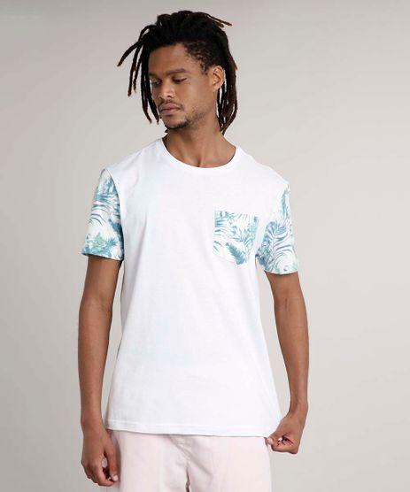 Camiseta-Masculina-Floral-Manga-Curta-Gola-Careca-Branca-9636468-Branco_1