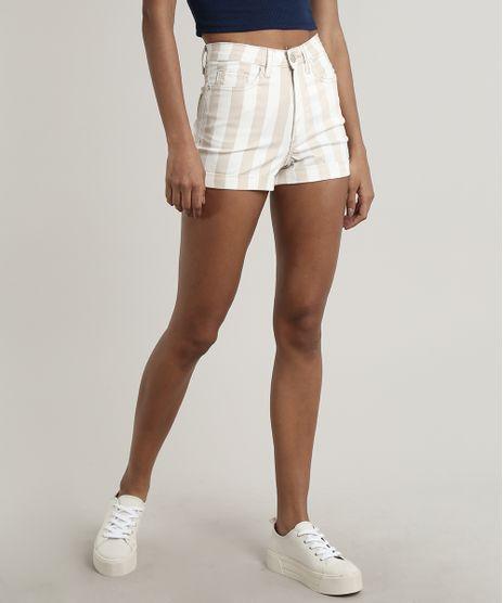 Short-de-Sarja-Feminino-Hot-Pants-Listrado-Bege-9557201-Bege_1