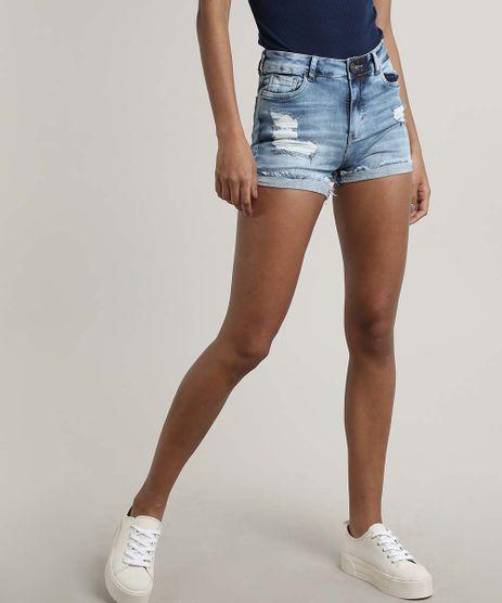 Short-Jeans-Feminino-Reto-Destroyed-com-Bolsos-Azul-Claro-9670245-Azul_Claro_1