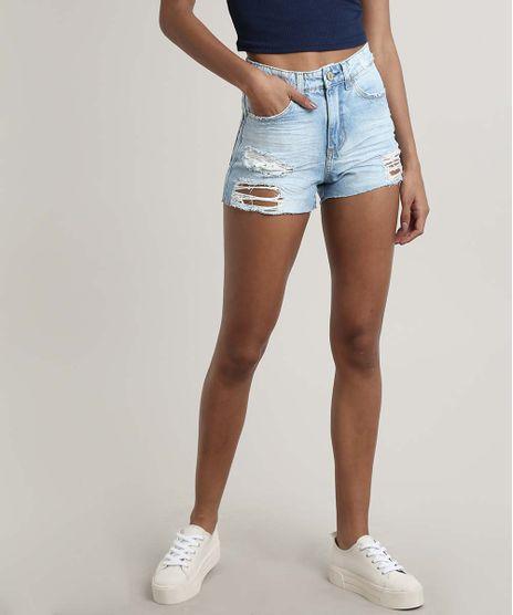 Short-Jeans-Feminino-Vintage-Destroyed-com-Bolsos-Azul-Claro-9669101-Azul_Claro_1