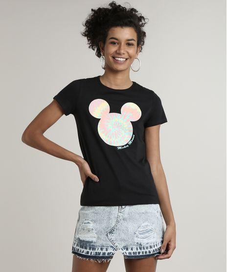Blusa-Feminina-Mickey-Manga-Curta-Decote-Redondo-Preta-9694485-Preto_1