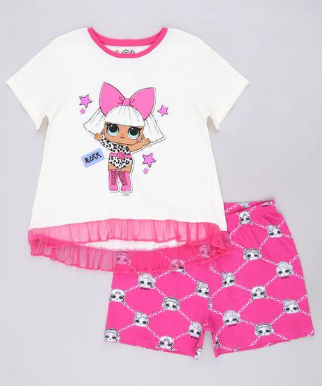 Pijama-Infantil-LOL-Surprise-Manga-Curta-Off-White-9640938-Off_White_1