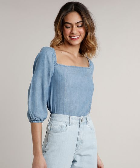 Blusa-Jeans-Feminina-Mindset-Manga-Bufante-Decote-Reto-Azul-Medio-9687365-Azul_Medio_1
