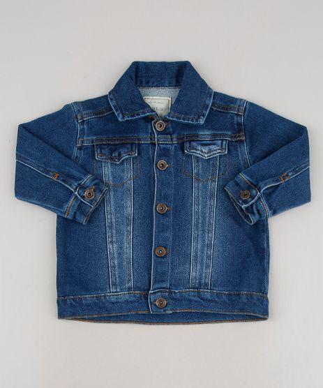 Jaqueta-Jeans-Infantil-com-Recortes-Azul-Escuro-8556540-Azul_Escuro_1