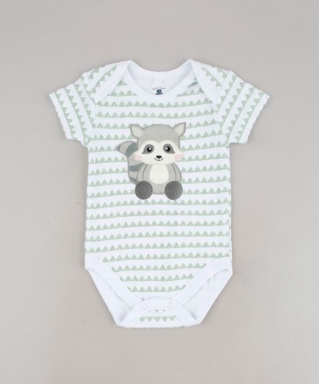 Body-Infantil-com-Patch-de-Guaxinim-Estampado-Manga-Curta-Branco-9586955-Branco_1
