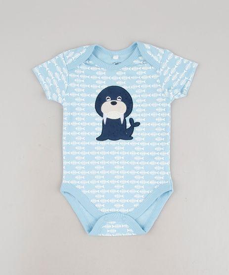 Body-Infantil-com-Patch-de-Leao-Marinho-Estampado-de-Peixe-Manga-Curta-Azul-Claro-9586952-Azul_Claro_1