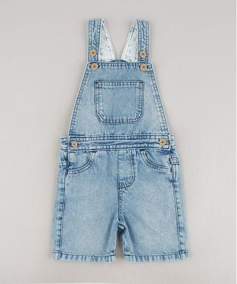 Jardineira-Jeans-Infantil-com-Bolsos-Azul-Claro-9635843-Azul_Claro_1