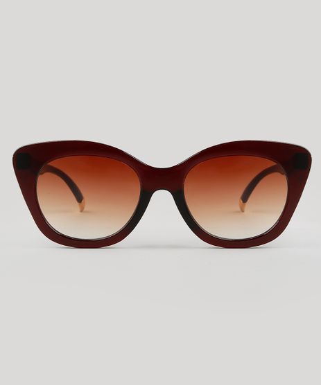 Oculos-de-Sol-Gatinho-Feminino-Yessica-Marrom-9732419-Marrom_1