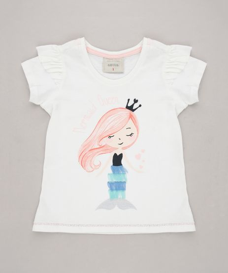 Blusa-Infantil--Mermaid-Queen--Manga-Curta-Off-White-9676836-Off_White_1
