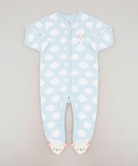 Macacao-Infantil-Ovelha-Estampado-de-Nuvens-Manga-Longa-Azul-Claro-9586900-Azul_Claro_1