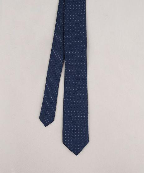 Gravata-Masculina-em-Jacquard-Estampada-de-Poa-Azul-Marinho-9663834-Azul_Marinho_1