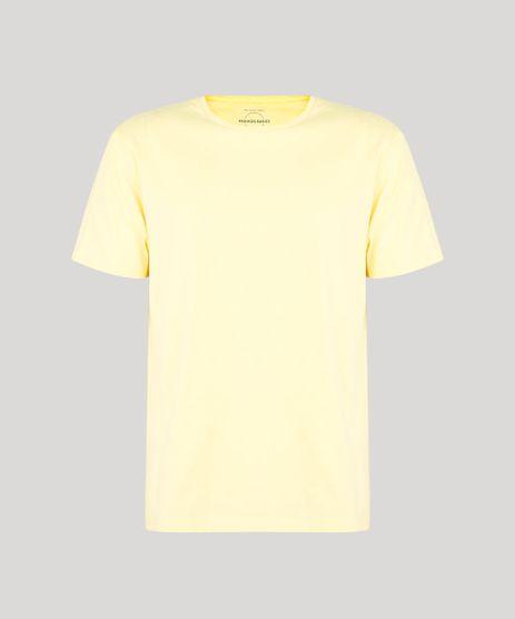 Camiseta-Masculina-Basica-Manga-Curta-Gola-Careca-Amarela-9649640-Amarelo_1