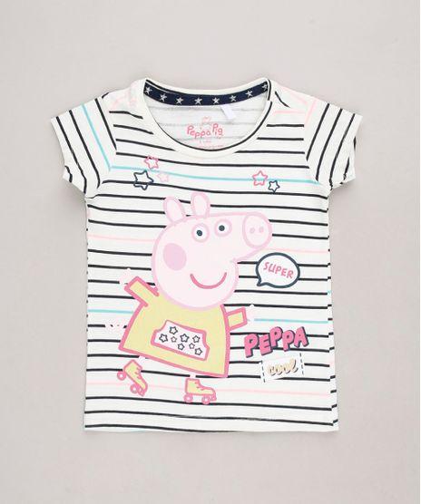 Blusa-Infantil-Peppa-Pig-Listrada-Manga-Curta-Off-White-9688720-Off_White_1