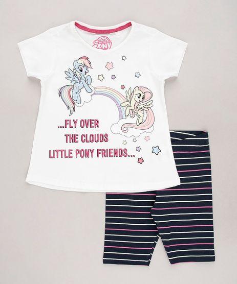 Conjunto-Infantil-My-Little-Pony-de-Blusa-Manga-Curta-Off-White---Bermuda-Listrada-Azul-Marinho-9675148-Azul_Marinho_1