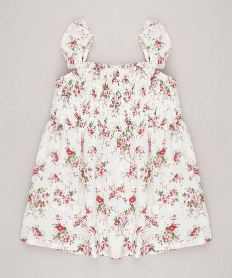 Vestido-Infantil-Estampado-Floral-com-Babados-Sem-Manga-Off-White-9515356-Off_White_1