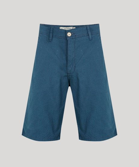 Bermuda-de-Sarja-Masculina-Slim-Estampada-Geometrico-Azul-Escuro-9693168-Azul_Escuro_1