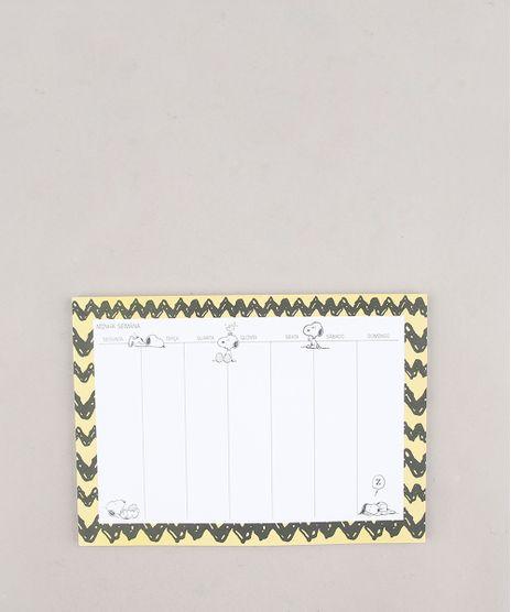 Bloco-Planner-Semanal-Snoopy-24cm-x-17cm--Amarelo-9654124-Amarelo_1
