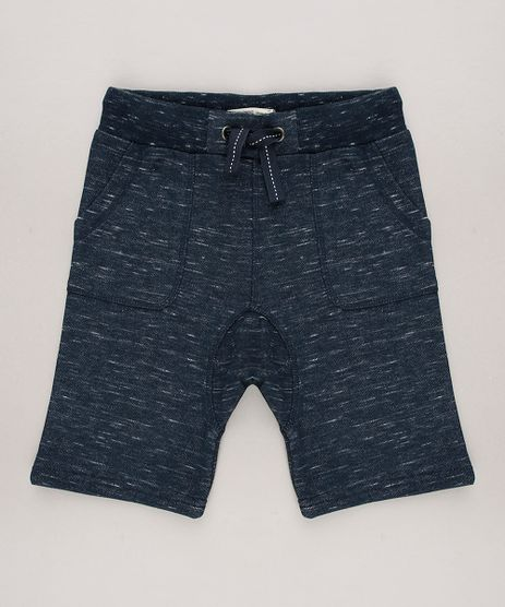 Bermuda-Infantil-em-Moletom-com-Bolsos-Azul-Escuro-9559066-Azul_Escuro_1
