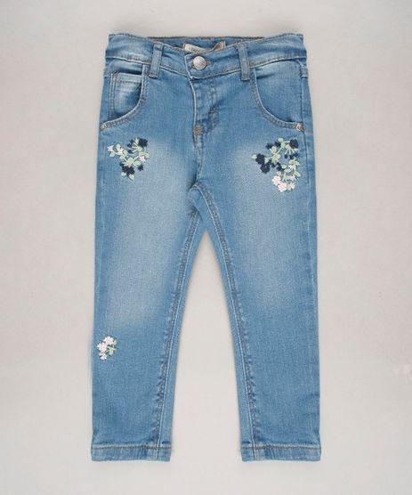 Calca-Jeans-Infantil-Skinny-com-Bolsos-e-Bordados-Azul-Medio-9636300-Azul_Medio_1