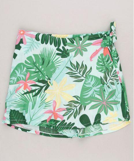 Short-Saia-Infantil-Estampado-Floral-Verde-Claro-9681363-Verde_Claro_1