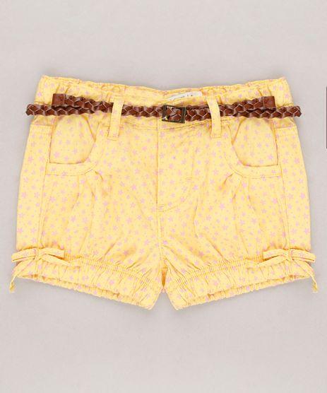 Short-Infantil-Estampado-Estrelas-com-Cinto-Amarelo-9567755-Amarelo_1