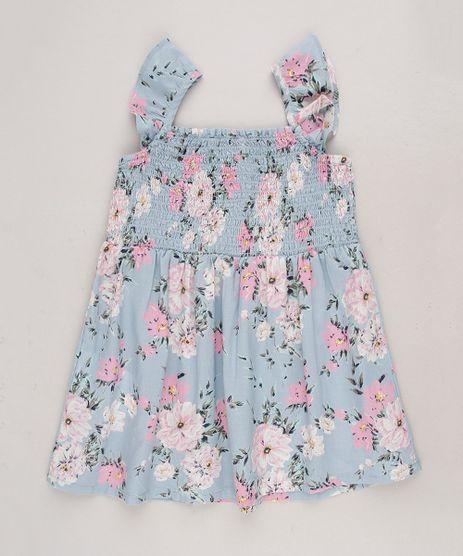 Vestido-Infantil-Estampado-Floral-com-Babados-Sem-Manga-Azul-Claro-9515355-Azul_Claro_1